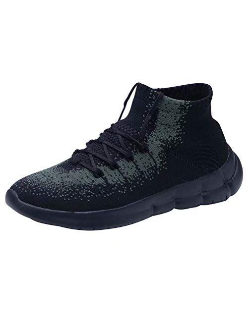 LANCROP Womens Sock Walking Shoes Comfortable Mesh Slip on Easy Sneakers
