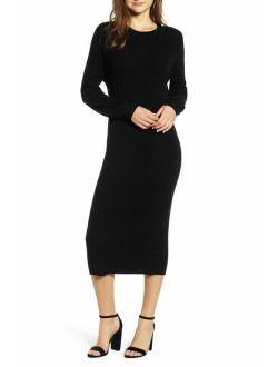 $225 Adriano Goldschmied Women's Black Quaid Raglan Dress Size M