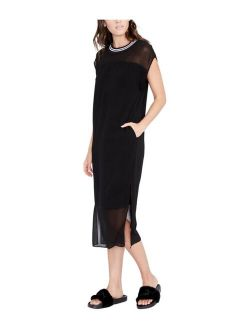 Rachel Roy Womens Ribbed Trim Midi Dress, black, Small