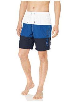 Men's Quick Dry Classic Logo Tri-block Series Swim Trunk
