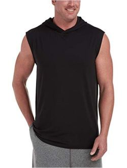 Men's Big And Tall Tech Stretch Sleeveless Pullover Hoodie Fit By Dxl