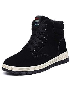 Quickshark Men Snow Boots Waterproof Winter Boots High Top Sneaker Outdoor No.