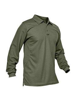 Men's Polo Shirt Quick Dry Performance Long And Short Sleeve Tactical Shirts Pique Jersey Golf Shirt