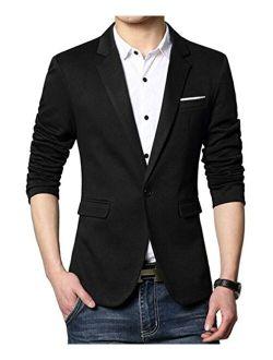 Beninos Men's Premium Casual One Button Slim Fit Blazer Suit Jacket Sport Coat