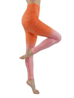 Homma Stretch Moisture Whicking Women's Ombre Yoga Pants Running Workout Leggings