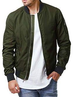 Pengfei Mens Diamond Quilted Jackets Bomber Varsity Winter Fall Chunky Coats Outwear