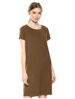 Amazon Brand - Daily Ritual Women's Lived-in Cotton Crewneck T-Shirt Dress