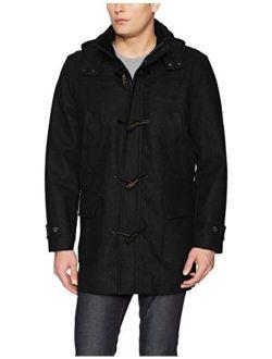 Men's Hooded Wool Toggle Coat