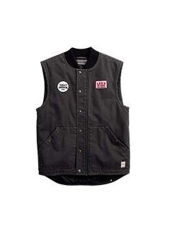 Harley-Davidson Men's Quilted Slim Fit Workwear Vest, Black