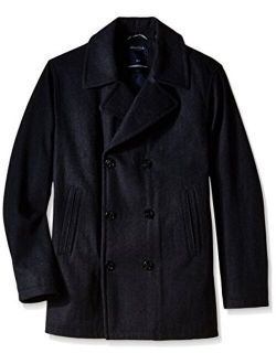 Men's Big And Tall Wool-blend Peacoat