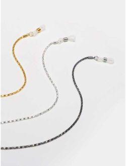 3pcs Metallic Glasses Chain