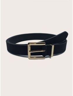 Simple PU Buckle Belt