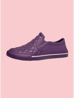 Men Quilted Slip On Sneakers