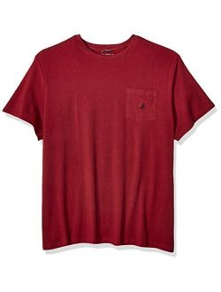 Men's Big And Tall Solid Crew Neck Short Sleeve Pocket T-shirt
