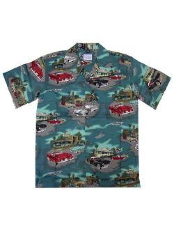 David Carey Ford T-Bird Thunderbird '55 '56 '57 Hawaiian Camp Shirt