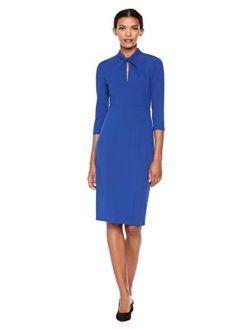 Women's Knotted Crepe Sheath Dress