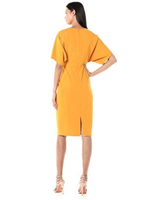 Donna Morgan Women's Kimono Sleeve Stretch Crepe Midi Dress