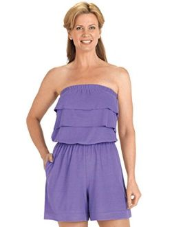 Carol Wright Gifts Terry Cloth Romper | Strapless Terry Cloth Romper