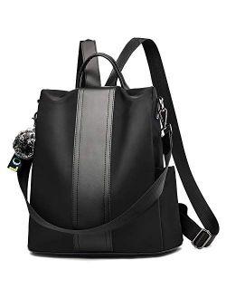 Backpack Purse For Women Fashion School Purse And Handbags Shoulder Bags Nylon Anti-theft Rucksack