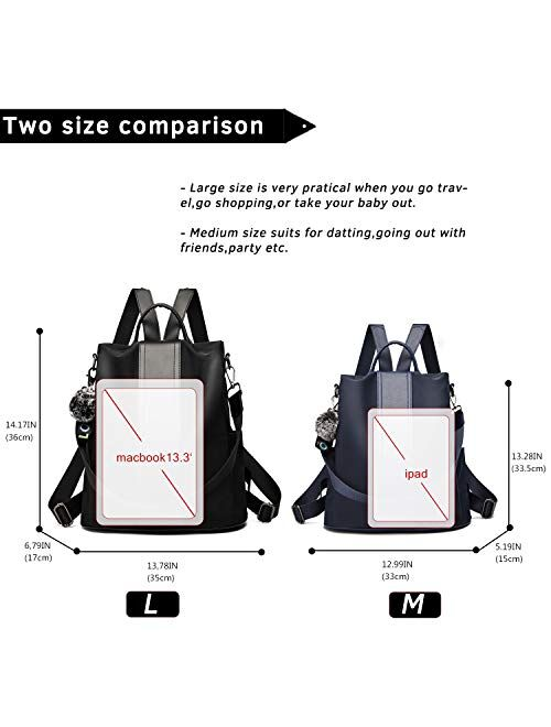 Details about  /TcIFE Backpack Purse for Women Fashion School Purse and Handbags Shoulder Bags N
