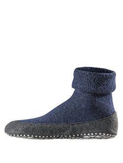 Mens Cosyshoe Slipper Sock - 90% Merino Wool, In Grey Or Navy Blue, Us Sizes 5 To 12, 1 Pair