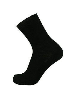 SOK 100% Cotton Socks - Men's 3-pair pack Thin - HIDDEN ELASTIC AT TOP ONLY