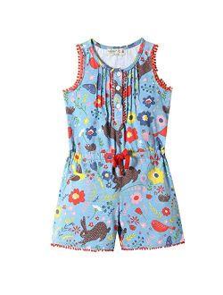 Frogwill Baby Toddler Girls Unicorn Rainbow Romper Summer Playsuit 18M-7Y