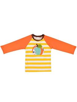 Toddler Little Girls Icing Ruffle Shirts Kids Raglan Baseball 3/4 Sleeves T-Shirt Baby Cotton Tee Top Clothes 1-8 Years