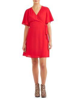Women's Woven Wrap Dress