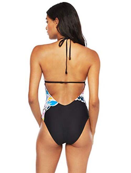 Trina Turk Women's High Neck Halter One Piece Swimsuit