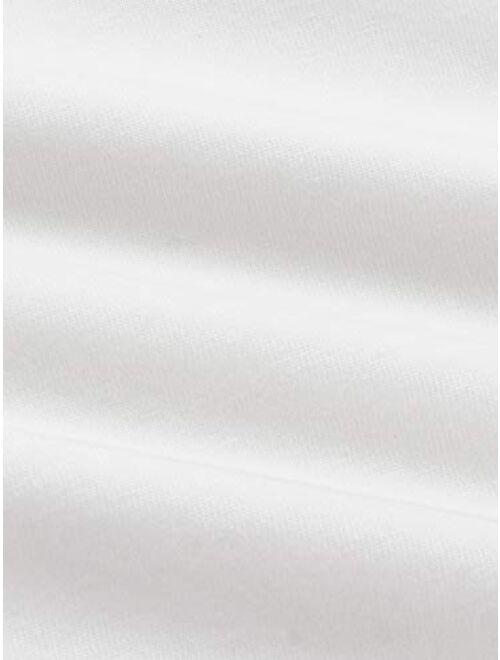 SweatyRocks Women's Short Sleeve Print Crop Top T Shirt
