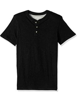 Mens Henley Short Sleeve T-shirt | Casual, Soft Breathable Cotton Tee | Regular Fit, Big And Tall