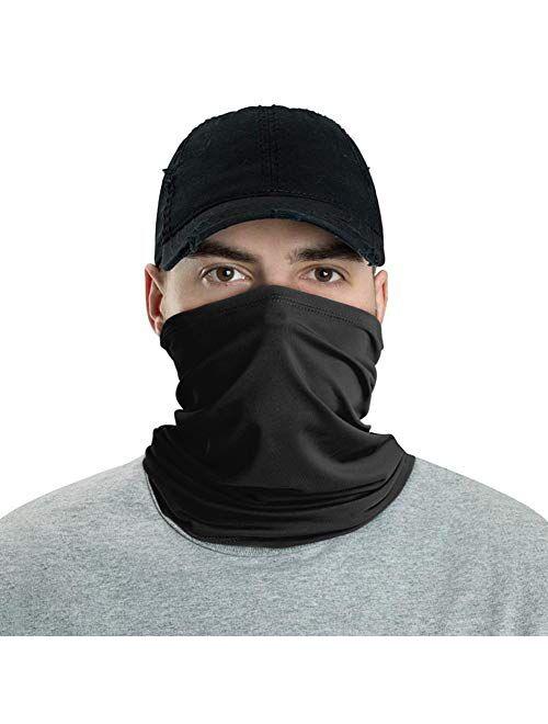 FACE Neck Gaiter Balaclava Tube Neck Gaiter Headband Scarf Headwear Bandana Cap