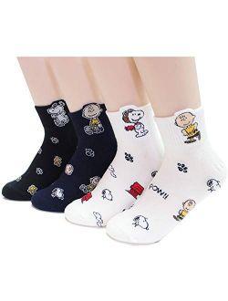 EVEI The Peanuts Snoopy Cartoon Movie Series Women's Original Socks