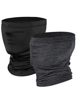 Uppye Neck Gaiter Mask - 2 Packs Bandanas Face Cover Balaclavas Ski Masks Summer Face Scarf for Outdoor