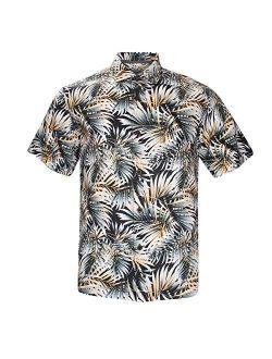 Havana Breeze Men's Relaxed-Fit 100% Linen Shirt L