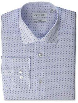 Men's Dress Shirt Regular Fit Non Iron Stretch Print