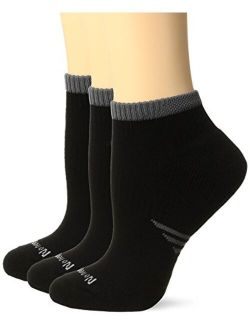 No Nonsense Women's X Sport Cushioned Ankle Sock 3-Pack