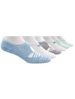 Womens Trefoil Superlite Super No Show Socks (6-pair)