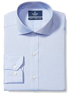Amazon Brand - Buttoned Down Men's Tailored Fit Cutaway-Collar Solid Pinpoint Dress Shirt, Supima Cotton Non-Iron