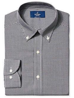 Amazon Brand - BUTTONED DOWN Men's Slim Fit Gingham Dress Shirt, Supima Cotton Non-Iron