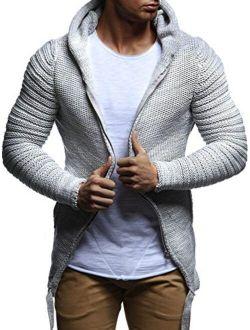 Ln20741 Men's Zip Knit Hoodie Slim Fit