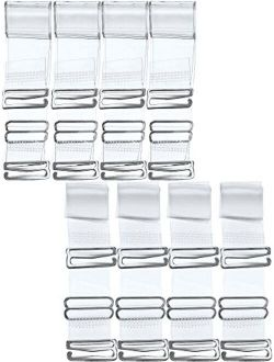 Hestya 8 Pairs Clear Bra Straps, Invisible Soft Clear Replacement Bra Shoulder Straps for Women