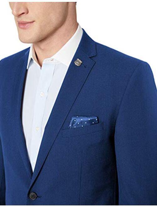 Nick Graham Men's Slim Fit Stetch Finished Bottom Suit, hot Blue, 48R