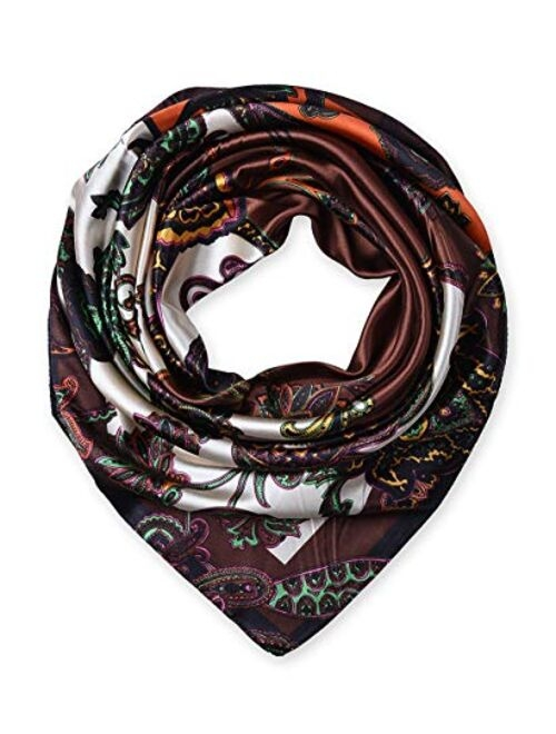 """35"""" Ladies Satin Square Silk Like Hair Scarves and Wraps Headscarf for Sleeping"""