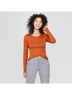 Women's Slim Fit Long Sleeve T-Shirt - A New Day