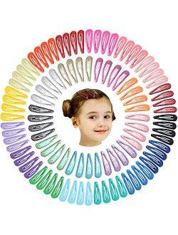 100Pcs 2 Inch Metal Snap Hair Clips for Girls No Slip Grip Metal Barrettes for Toddler Girls Teens Children Kids Women Adults