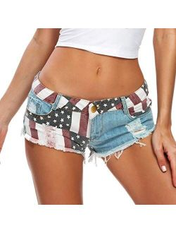 Cresay Women's Sexy Cut Off Denim Jeans Shorts Mini Hot Pants Clubwear