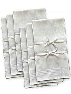 Mens Handkerchief 6 pc Set Bamboo 17 x 17 Inch Multi Color