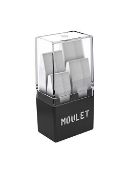 56 Plastic Collar Stays in a Divided Box for Men - 4 Sizes by Moulet